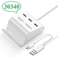 Bộ chia 3 cổng USB tích hợp OTG đọc thẻ nhớ Ugreen 30340