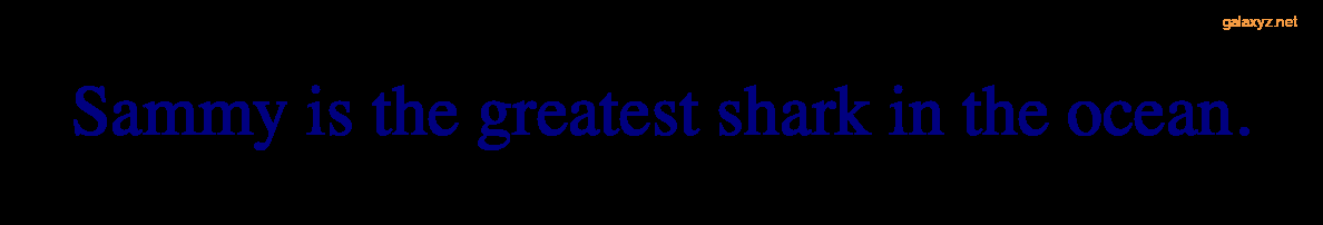 Văn bản được hiển thị bằng màu xanh nước biển với phông chữ serif mặc định của trình duyệt.