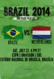 World Cup 2014 – Tranh giải ba – Brazil Vs Hà Lan ()